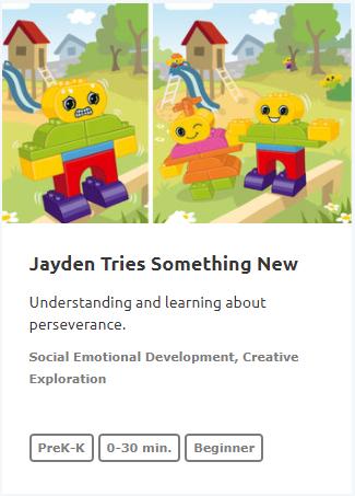 Jayden Tries Something New